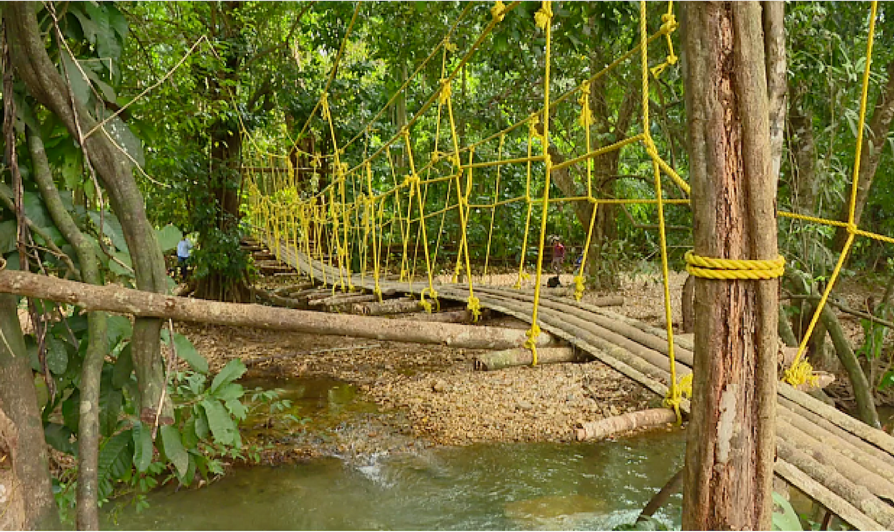 A Karnataka Villager Builds a Bridge to Help Children Go to School